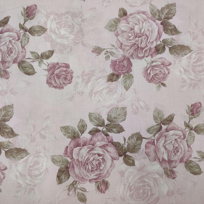 Tessuto di Cotone Fantasia Rose in Orchidea