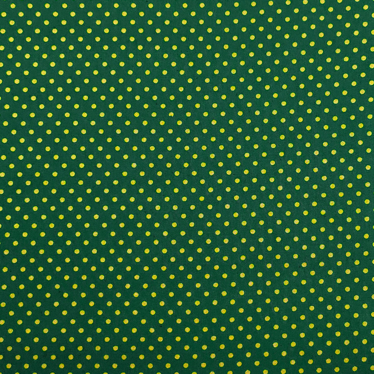 Tessuto Cotone Pois Lurex Sfondo Verde