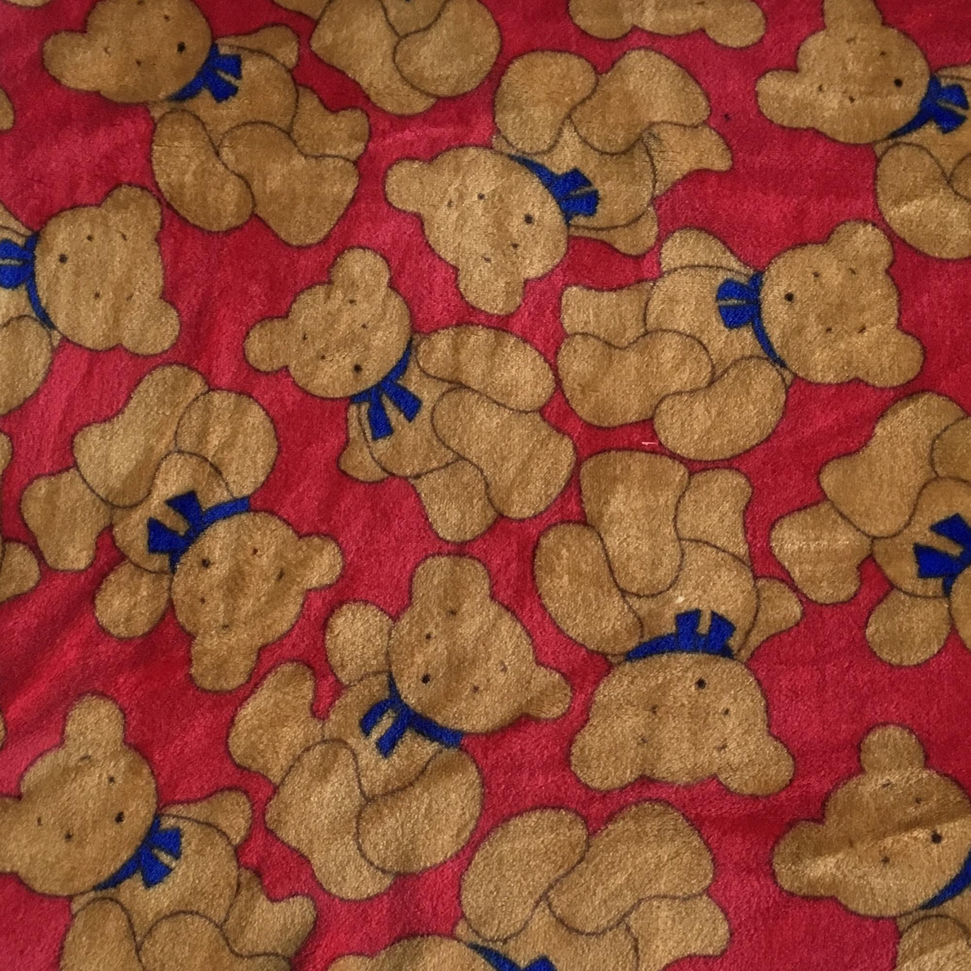 Pile-Mano-Cachemire-Orsetto-Teddy-Rosso