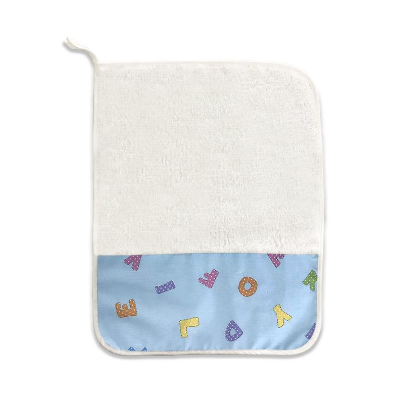 Asciugamano Alfabeto Azzurro