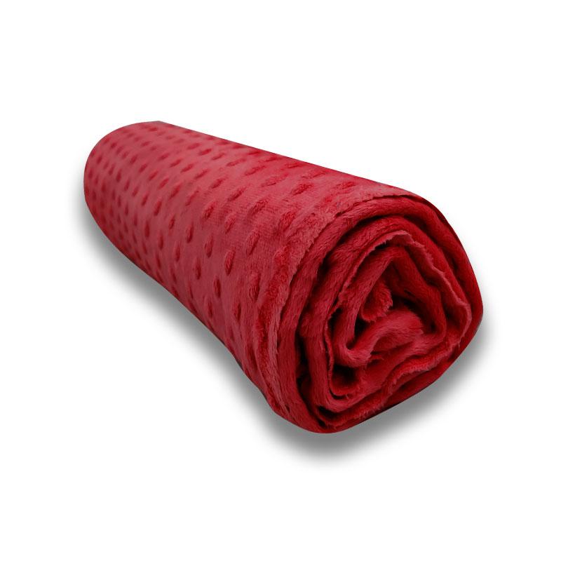 Ritaglio Minky Dots Peluche Rosso 50 x 150 cm