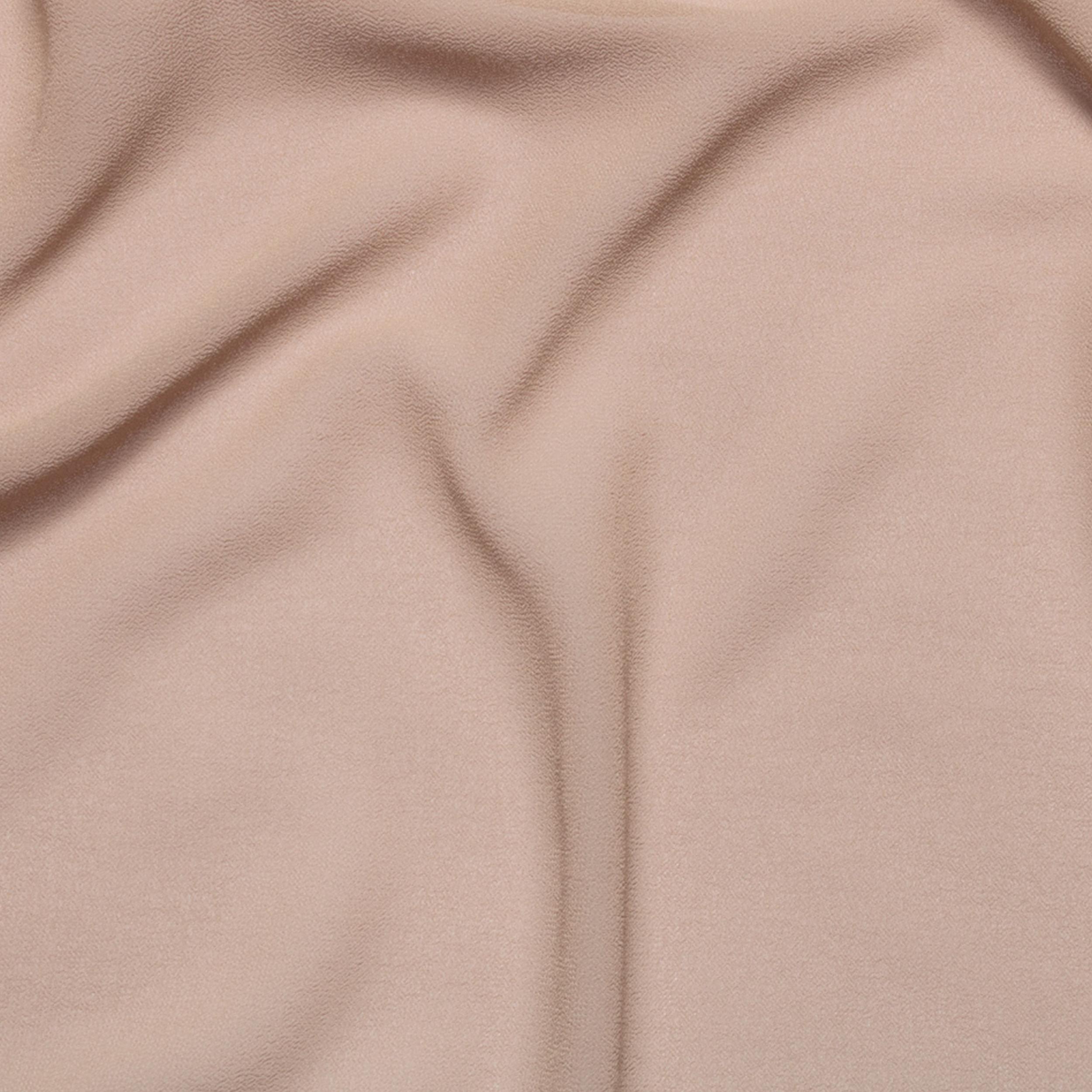 Tessuto Georgette Elasticizzato Tinta Unita Rosa Antico