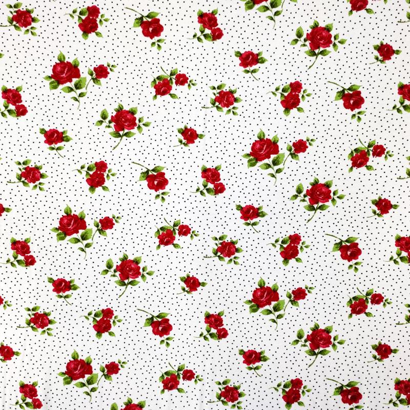 Maglina Rose Rosse Sfondo Bianco Pois