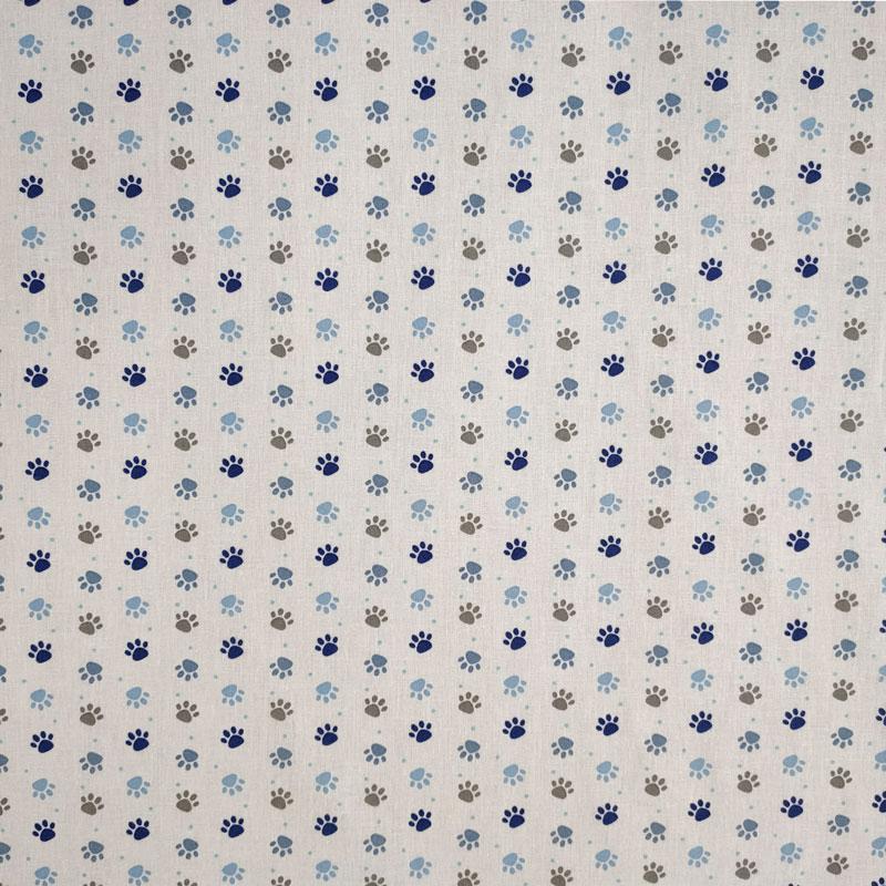 Rasatello Cotone Zampette Cuccioli Blu