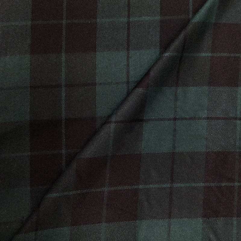 Tessuto Tartan Quadri Verdone e Nero