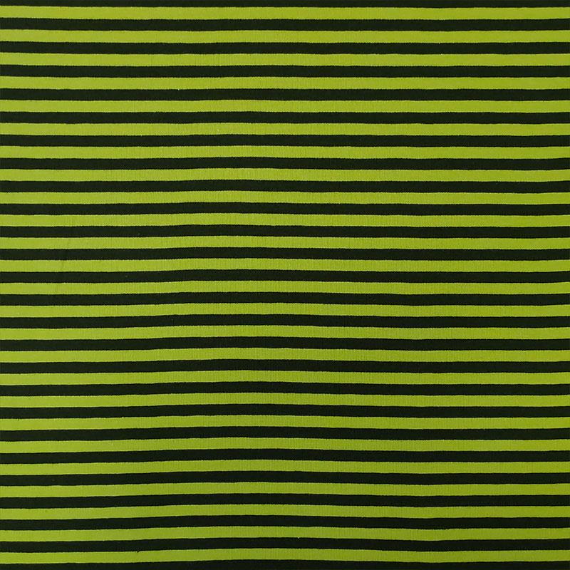 Tessuto Jersey Rigato Verde Acido