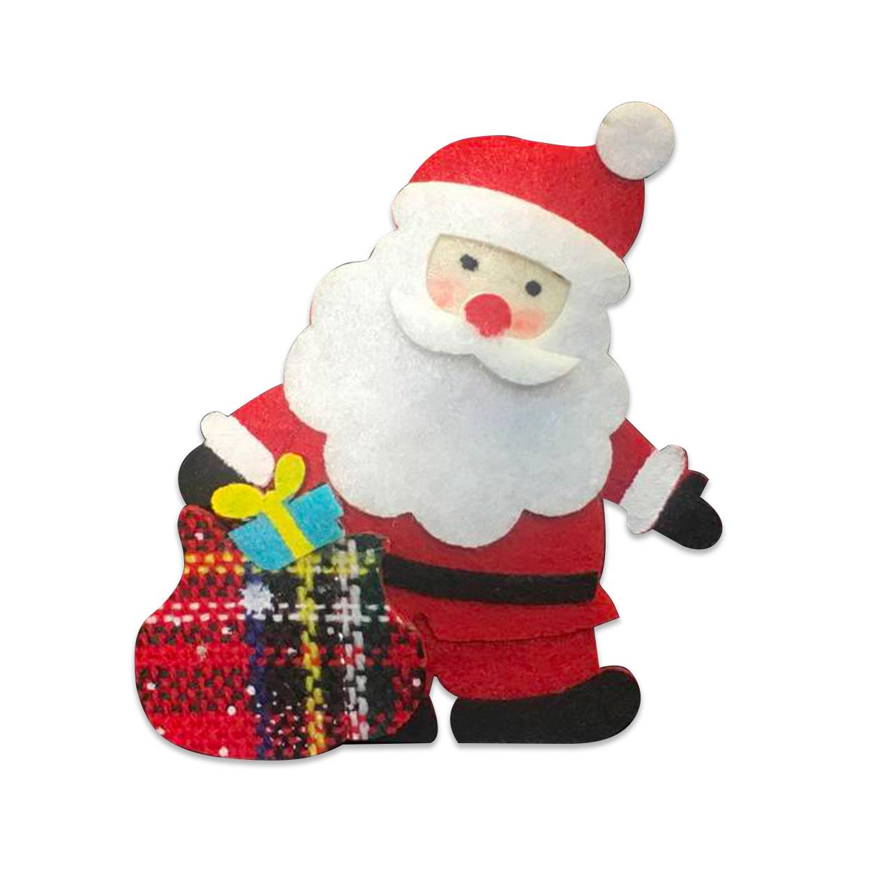 Applicazione in Feltro Babbo Natale con Regali