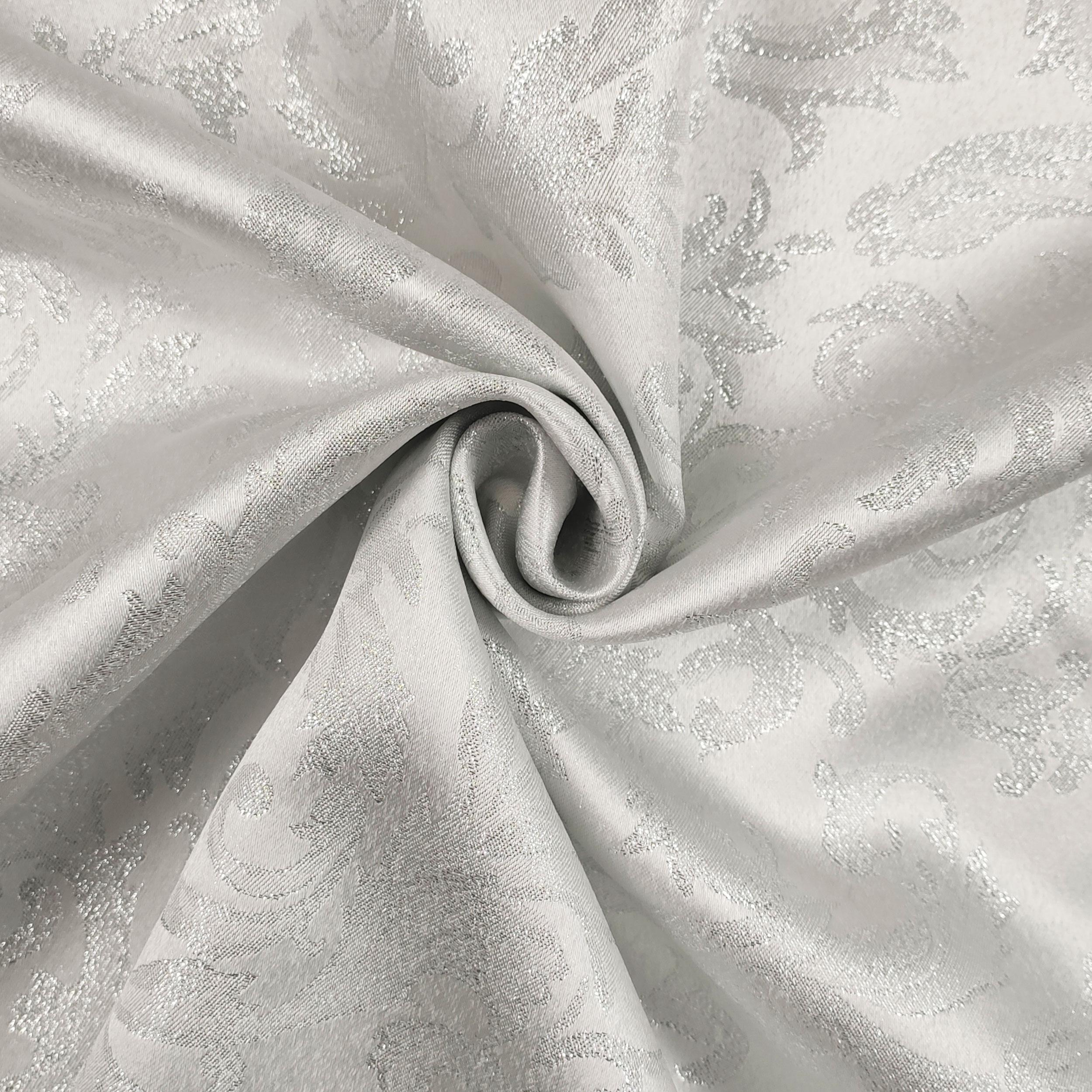 Tessuto Natalizio Damascato Argento